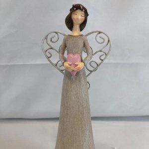 """8"""" Angel Figurine with Gift Box by Valer"""
